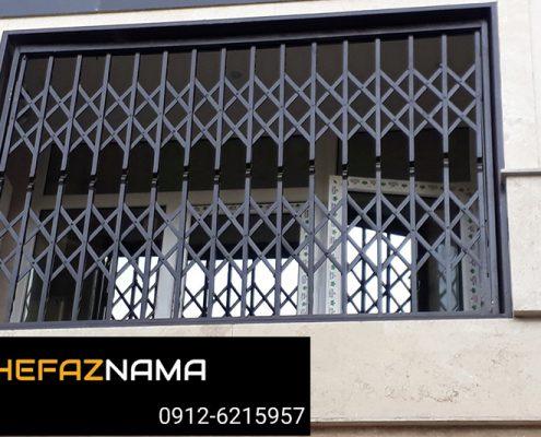 طراحی و نصب حفاظ پشت پنجره آهنی